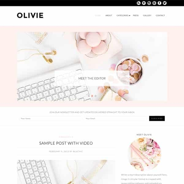 olivie converts visitors into email subscribers