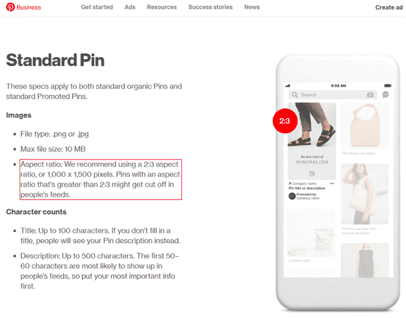 what a perfect size pin for pinterest look like