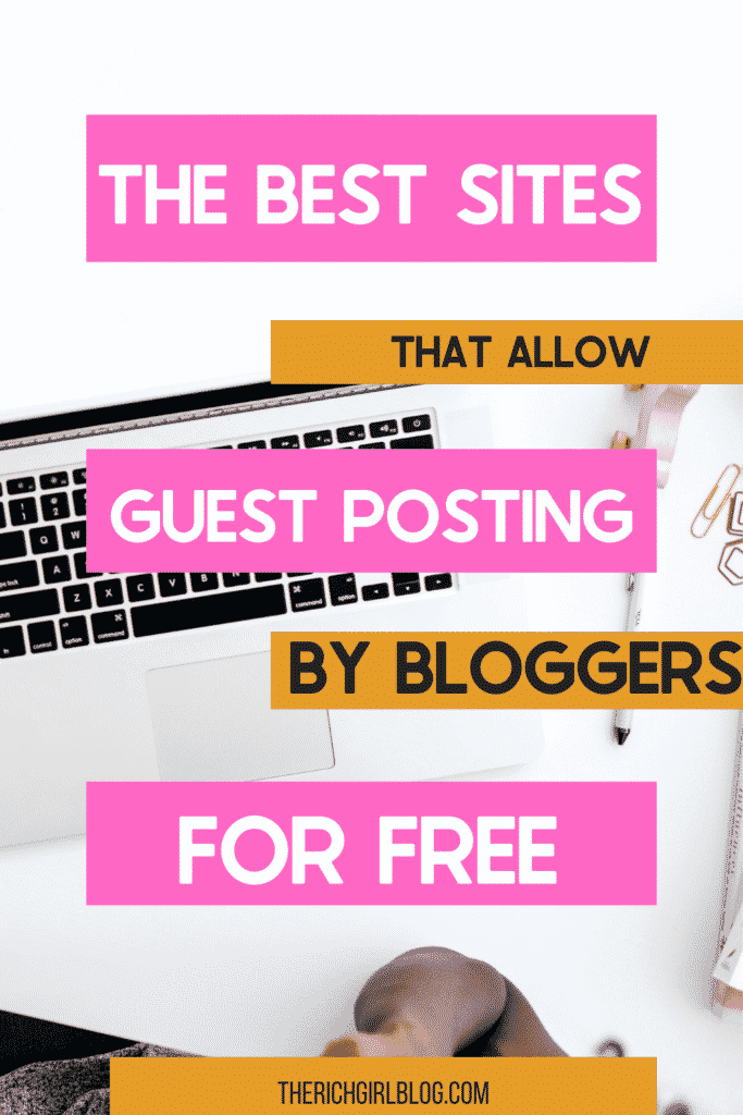 Sites for guest posting.