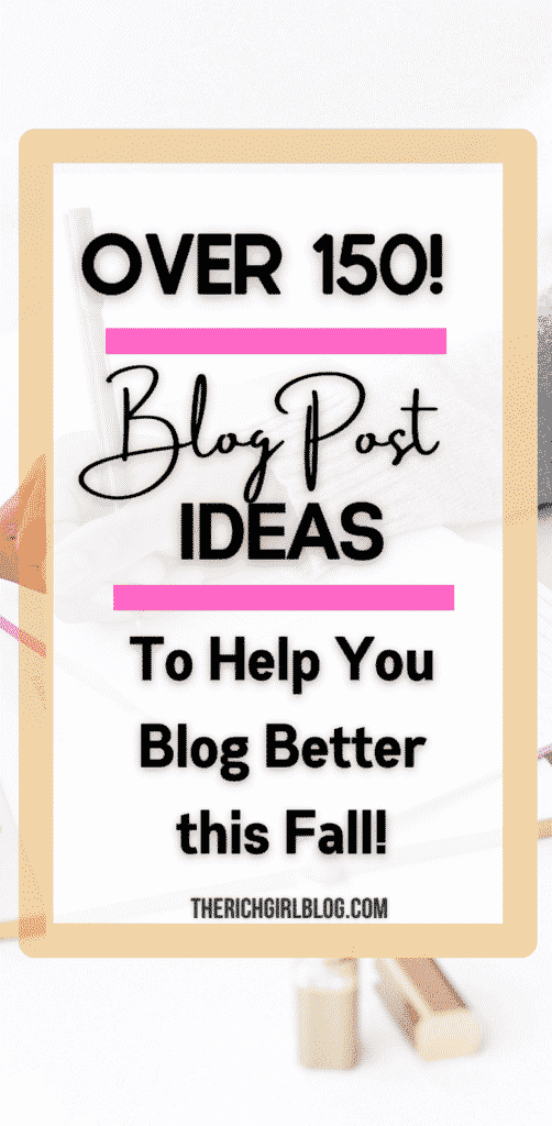 blogging content topics and blog post ideas for new bloggers