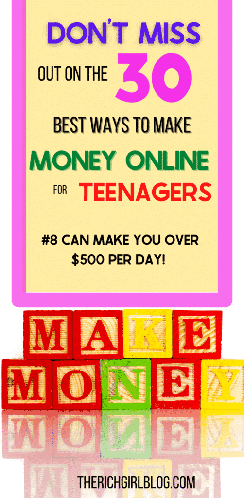 making money online for those under 18