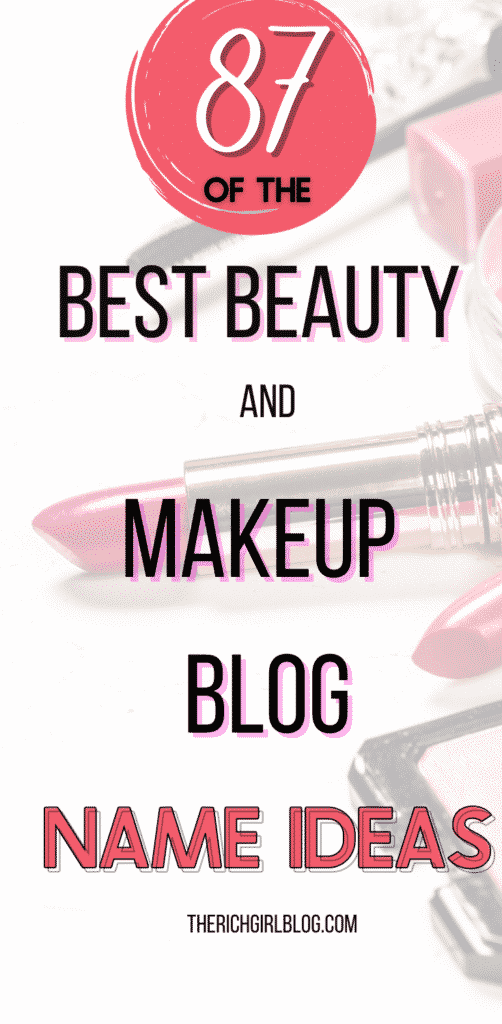best beauty and makeup blog name ideas