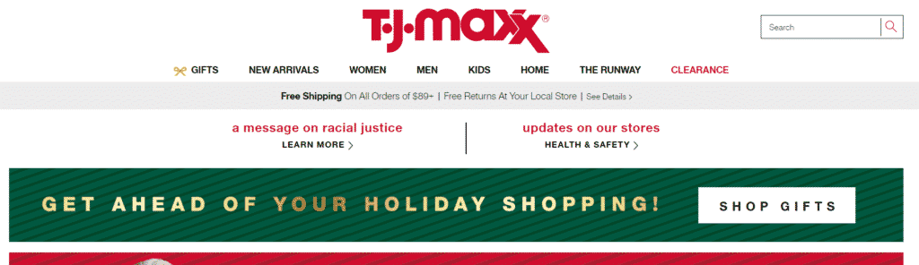 tj maxx retail store affiliate programs for new bloggers