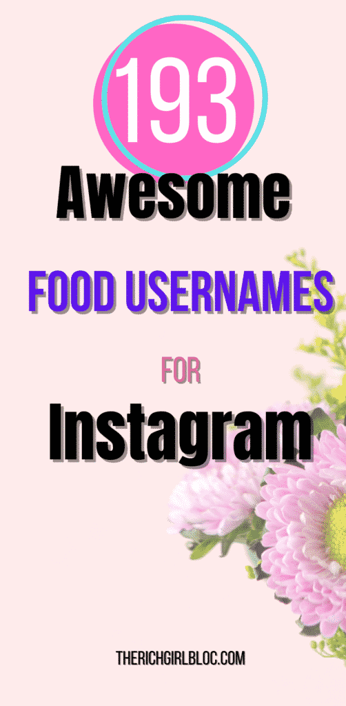 awesome food page names for instagram