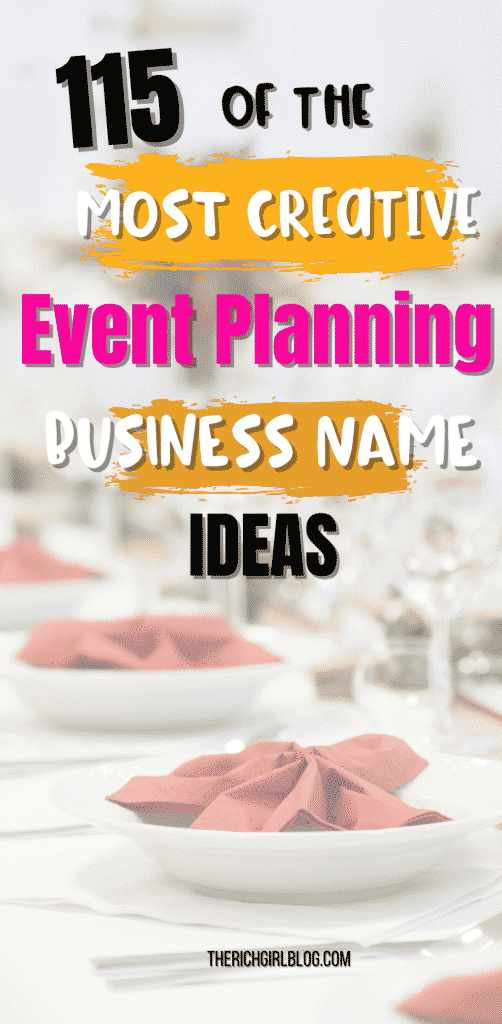 event planning business name