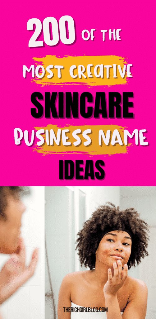 skincare business name