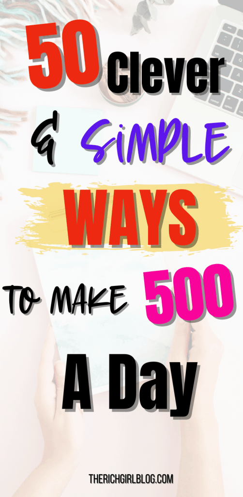 how to earn 500 per day