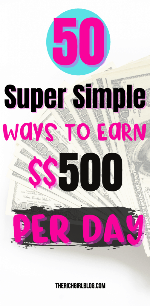 earn up to $500 per day online